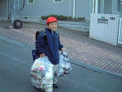 登校時ゴミだしの事務局長